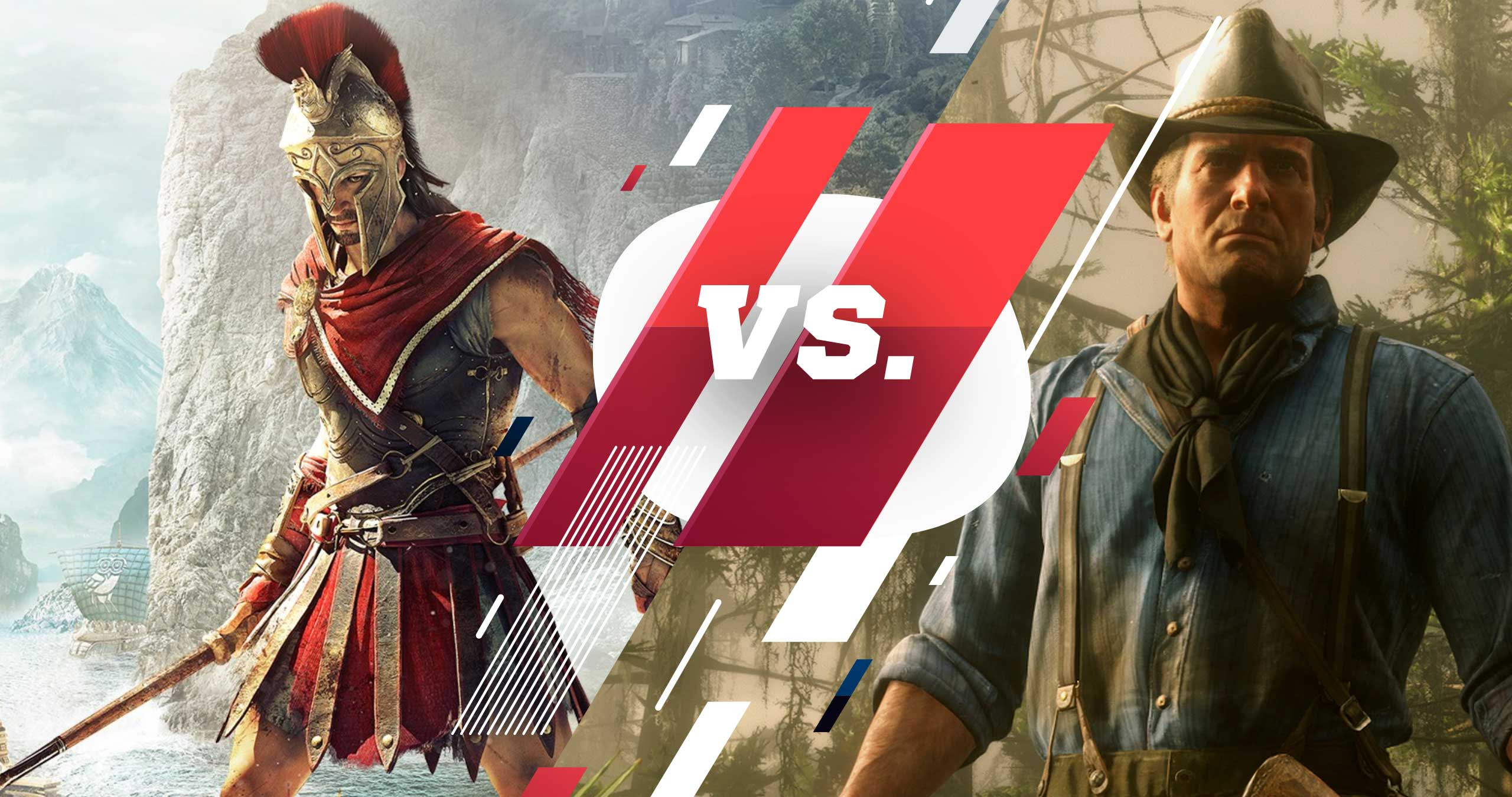 Assassin's Creed Odyssey' Vs. «Red Dead Redemption 2»: сравнение графики