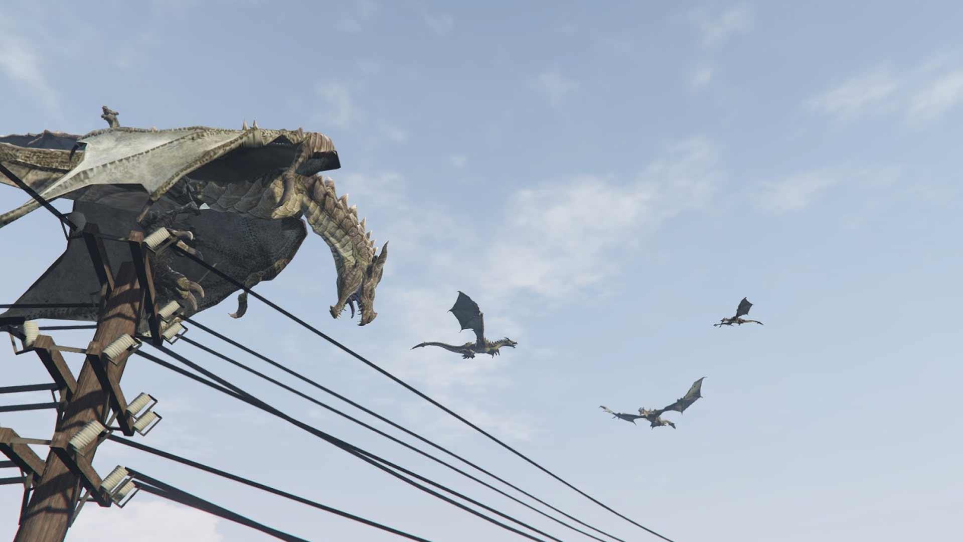Принесите игру престолов в Grand Theft Auto с огнедышащими драконами