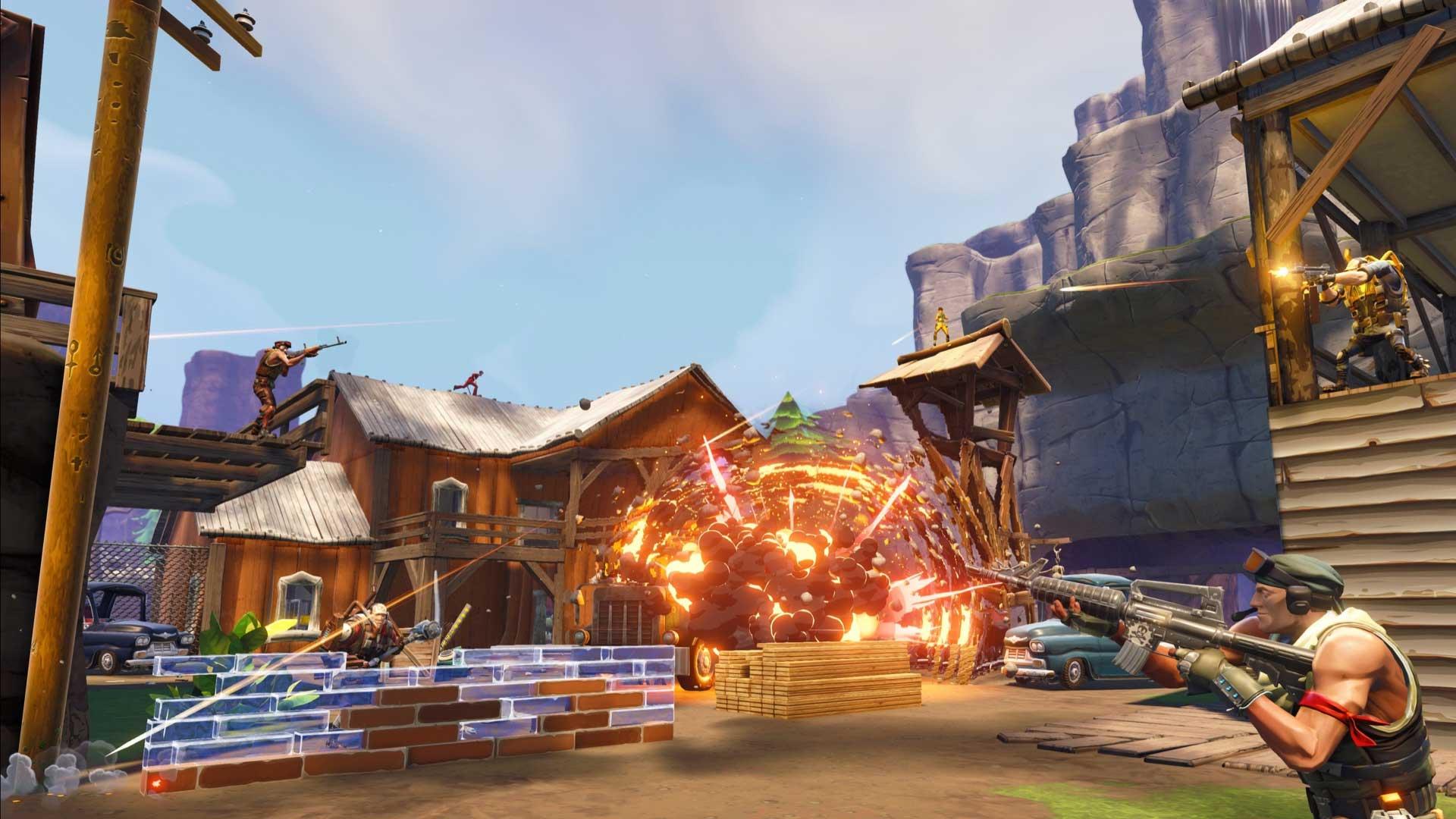 Подготовка к бою в игре Fortnite