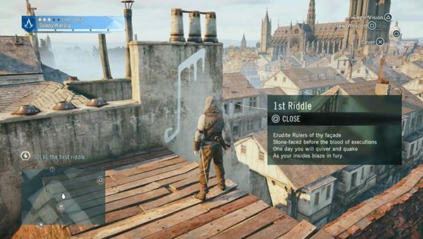 Снова заберитесь на крыши, чтобы начать следующий набор загадок.