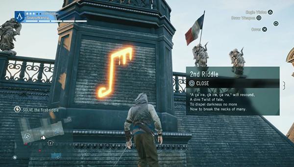 Направляйтесь на восток, чтобы найти следующий символ на крыше.