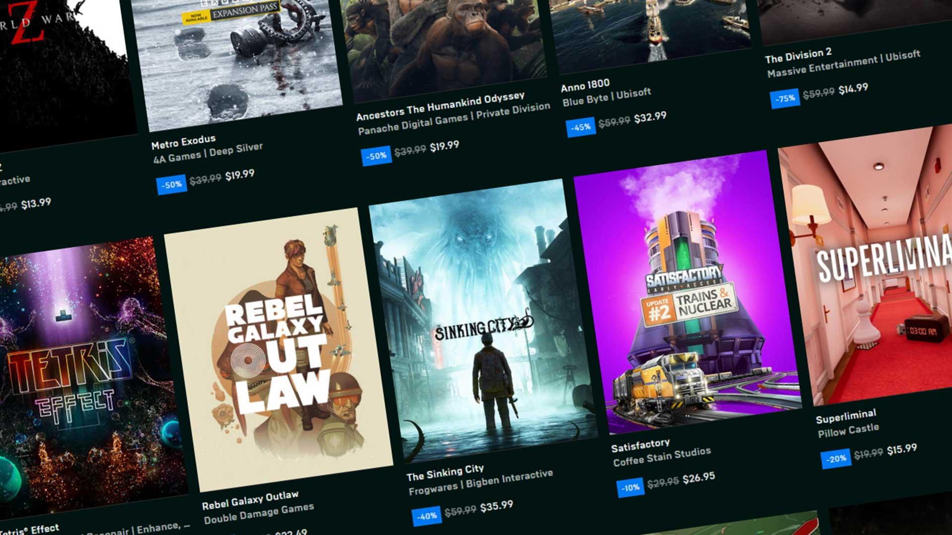 Бесплатные игры в Epic Games Store: объявлены розыгрыши призов на этой неделе